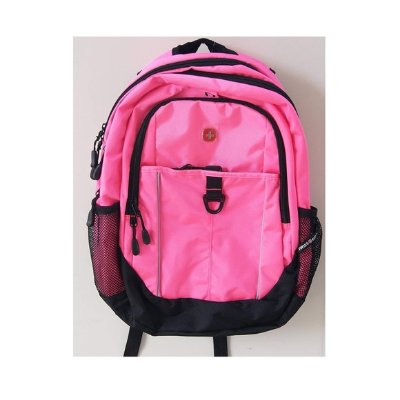 Swiss Gear Handbags - SwissGear Day Pack Pink with Black Backpack